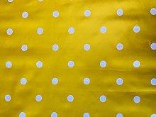 linen702 Vinyl Pvc Tablecloth Mustard/Yellow Polka
