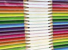 linen702 Vinyl Pvc Tablecloth, Pencil Crayons 2