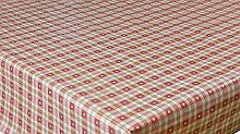 linen702 Vinyl Pvc Tablecloth Red and Cream Check