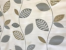 linen702 Vinyl Pvc Tablecloth Silver/Grey and Gold