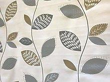 linen702 Vinyl Pvc Tablecloth Silver/Grey and Gold