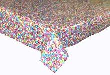 LINEN702 Vinyl Pvc Tablecloth Smarties Sweets 1.5
