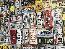 linen702 Vinyl Pvc Tablecloth USA Car Number