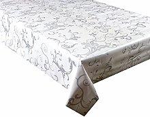 linen702 Vinyl Pvc Tablecloth White Background