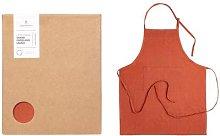LinenMe - Rustic Linen Apron - coral pink -