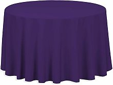 LinenTablecloth 108-Inch Round Polyester