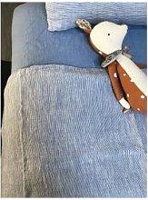 Linge Particulier - 80 x 120cm Blue Stripes Baby