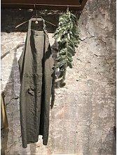 Linge Particulier - Khaki Linen Classic Apron -