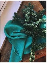 Linge Particulier - Vert Emerald Waffle Linen