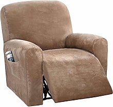 LINGKY 4-Pieces Recliner Sofa Covers Velvet