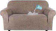 LINGKY Universal High Stretch Velvet Plush Sofa