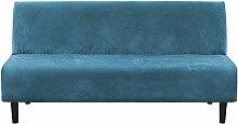 LINGKY Velvet Plush 1 Piece Futon Sofa Bed Cover