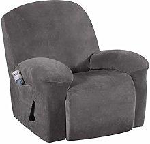 LINGKY Velvet Plush Strapless Sofa Cover Furniture
