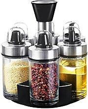 LINGLAN Spice Jar Oil Pourer Bottle Salt and