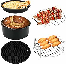 LINGSFIRE Air Fryer Accessories 7 Inch, 5 Pack Air