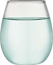 LINJJ Pyrex Glass Egg-Shaped Water Glass, Red Wine
