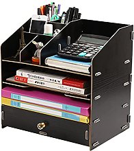 Linjolly Cubicle decor Desk Organizer with Drawers
