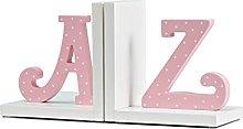 Linjolly Desk storage Book Ends Letter Pattern