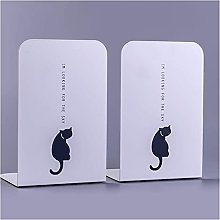 Linjolly Desk storage Book Ends Metal Bookends for