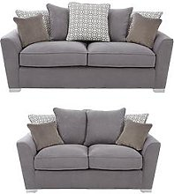 Links Fabric 3 Seater + 2 Seater Scatter Back Sofa