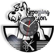 LINMING Vinyl wall clock Grooming Salon Wall Clock