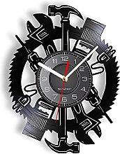LINMING Vinyl wall clock Joiner Tools Artwork