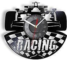 LINMING Vinyl wall clock Racing Car Decorative