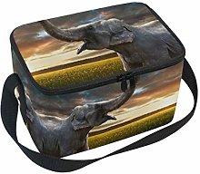 Linomo Animal Elephant Lunch Box Insulated Lunch