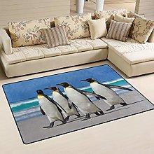 linomo Area Rug Animal Cute Penguin Floor Rugs