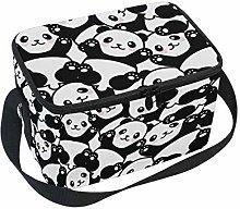 Linomo Cute Animal Panda Pattern Lunch Box