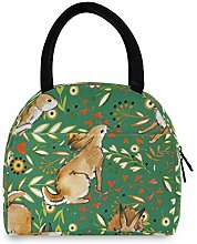 Linomo Cute Hare Rabbit Bunny Lunch Bag Cooler Bag