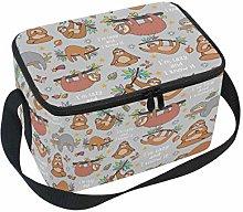 Linomo Cute Lazy Sloth Lunch Box Insulated Lunch