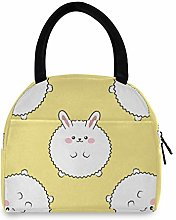 Linomo Cute Rabbit Bunny Hare Lunch Bag Cooler Bag