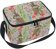 Linomo Cute Rabbit Bunny Hare Lunch Box Insulated