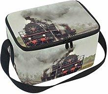 Linomo Retro Steam Freight Train Lunch Box