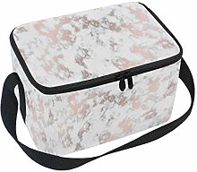 Linomo Rose Gold White Marble Lunch Box Insulated