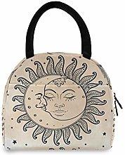 Linomo Sun Moon Stars Lunch Bag Cooler Bag