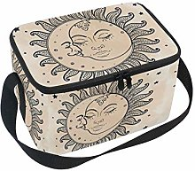 Linomo Sun Moon Stars Lunch Box Insulated Lunch
