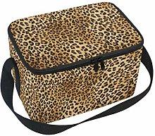 Linomo Tropical Animal Leopard Print Lunch Box