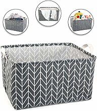 LinStyle Square Collapsible Storage Basket, Fabric