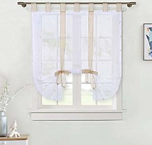 Lintimes 1 Piece Roman Blind Leaves Embroidery
