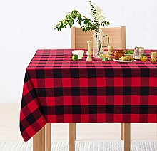 LinTimes 55 x 75 Inch Checkered Tablecloth