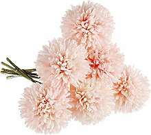 LinTimes 6 PCS Artificial Dandelion Flowers, Silk