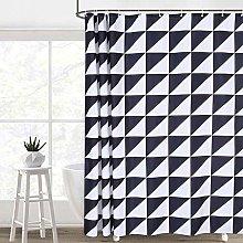 LinTimes Black and White Geometric Triangle Fabric