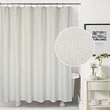 LinTimes Cream Shower Curtain, Spa Curtains Shower