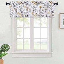 LinTimes Curtain Valance,Floral Valance Curtains