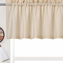 LinTimes Curtain Valance,Water-proof Waffle Woven