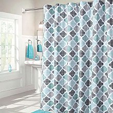 LinTimes Fabric Shower Curtain, Aqua Polyester