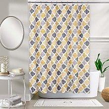 LinTimes Fabric Shower Curtain Aqua Polyester