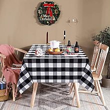 LinTimes Gingham Rectangular Tablecloth, Table